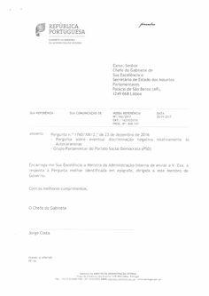 Discriminação Negativa a Autocaravanas - Resposta do Gab. Min. Adm. Interna - Gov. de Portugal