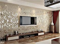 Hangqiao Tapete Wallpaper Geprägte texturiert Abnehmbare Mustertapete 4 Farben 10x0.53m (Silbergrau) Hangqiao http://www.amazon.de/dp/B00S7FNX8G/ref=cm_sw_r_pi_dp_KC7Ivb1146967