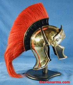 TherionArms - Roman officer's Attic style helmet - red crest