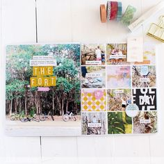 Pocket Scrapbooking, Scrapbooking Layouts, Diy Fort, Heidi Swapp, Art Walk, Grid Design, Planner Organization, Hello Everyone, Pattern Paper