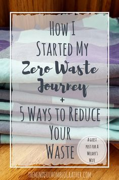 In all my posts about zero waste and minimalism, I don't think I've actually spelled out how I got started incorporating them into my life. So, when Erin from A Welder's Wife was lookin