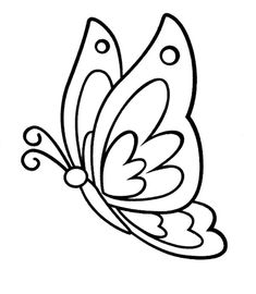 Free Printable Butterfly Coloring Pages For Kids Butterfly Coloring Page, Butterfly Drawing, Butterfly Painting, Butterfly Crafts, Butterfly Mobile, Applique Patterns, Mosaic Patterns, Quilt Patterns, Patchwork Patterns