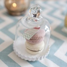 Mini Glass Bell Jars - Macaroon Wedding Favors