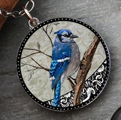 Blue-Jay-Necklace-Pendant-Birds-Made-in-USA-Spirit-Lala-Bluejay-NEW