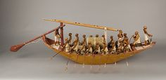 Travelling Boat being Rowed - Egyptian 12th Dynasty