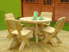 Rustic Wooden Garden Furniture - Cadagu.com