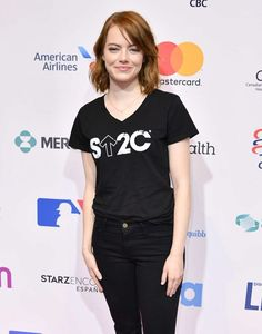 Emma Stone – 5th Biennial Stand Up To Cancer in Los Angeles
