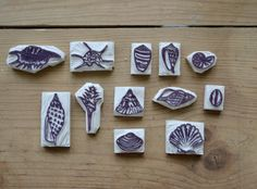 Tutorial on making shell stamps. And she have a really nice blog!