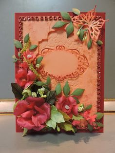 Flower greeting card handmade paper flowers lace spellbinders flower greeting card handmade silk flowers lace spellbinders die m4hsunfo
