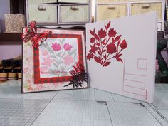 """2 of 2 made by sandie irving """"stamps by me ltd"""" stencils stamps and dies"""