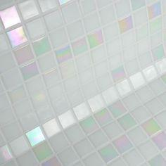 pate de verre BIANCA mosaique blanc et blanc nacré
