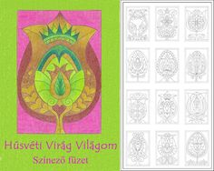 Hungarian Easter flower coloring pages