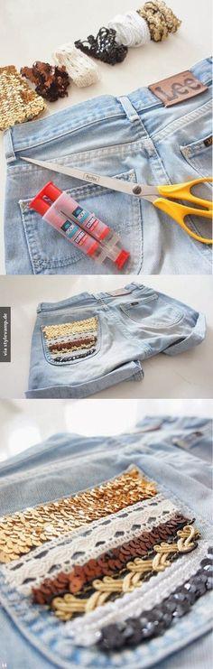 Glamour für die Jeans.