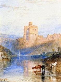 'Norham Castle auf dem Tweed', wasserfarbe von William Turner (1789-1862, United Kingdom)