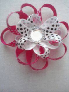 Stacked Ribbon Flower. $4.00, via Etsy.