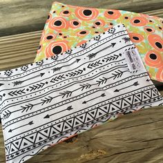 New prints  for our French Lavender eye pillows! These eye pillows are filled with real French lavender and rice. Use for shavasana or right before bed for natural relaxation. I just love these bright spring flowers with the wide black and white stripe!