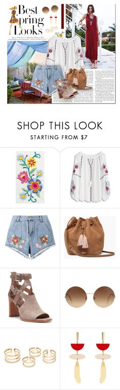 """Bohemian Spring"" by rarityx ❤ liked on Polyvore featuring H&M, Chicwish, House of Holland, UGG, Donald J Pliner, Victoria Beckham and Isabel Marant"