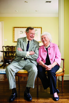 President George H. W. and Barbara Bush, photographed at their Houston townhouse.