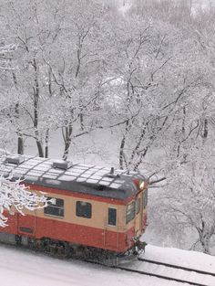 railway car in the snow...