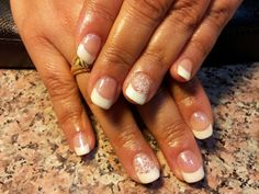 French with stamping!  Stacey's FL vacation nails!