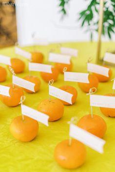 Pastel Summer Citrus Wedding Inspiration | ElegantWedding.ca Table Setting Inspiration, Wedding Inspiration, Wedding Name Cards, Wedding Place Settings, Table Cards, Wedding Centerpieces, Pastel, Summer, Recipes