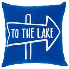 Expressions to the Lake Pillow Cover – x Nautical Quilt, Nautical Home, Blue Pillows, Floor Pillows, Accent Pillows, Meditation Pillow, Lake Life, Cottage Homes, Drink Sleeves