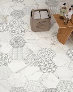 Trendy Bathroom Tiles Grey Back Splashes
