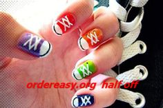 Hottest Snap Shots Nail design for kids Tips , 17 Colorful And Easy Nail Art Designs For Summers Simple Nail Art Designs, Cute Nail Designs, Easy Designs, Cute Nail Art, Easy Nail Art, Converse Nail Art, Converse Shoes, Converse Style, Converse Design