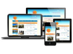 Responsive web design  for  holiday rentals in Marbella