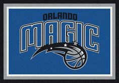 Orlando Magic area rugs. Decorate your home, office or any other room with area rugs of your favorite NBA team. These area rugs are proudly made in the USA. They can be used to show team spirit or to add character to a game room where you watch your favorite NBA teams battle it out. Show pride in your team with Milliken's TeamMats collection, consisting of 50 NBA mascots and insignias. All area rugs in the TeamMats collection are made of 100% nylon and are washable for easy cleaning.