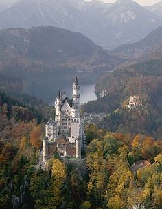The castle the Disney logo is based on -- Neuschwanstein Castle, Germany Life Is An Adventure, Adventure Is Out There, Germany Castles, Neuschwanstein Castle, Medieval Town, Central Europe, Beautiful Places To Visit, Monument Valley, Places To Go