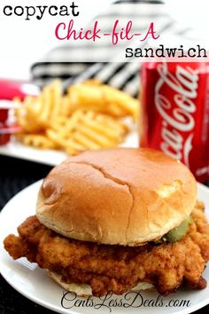 Copycat Chick-fil-A Sandwich recipe. This recipe was spot on!! Totally saves money and helps if a craving hits on Sunday!! The hubs was raving about this! Definitely making it again...