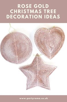 Beautiful Christmas tree decorations for your tree this Christmas, along with many other ideas to give your tree a bit of sparkle. Rose Gold Christmas Tree, Beautiful Christmas Trees, Glitter Roses, Shape Design, Star Shape, Christmas Tree Decorations, Decorative Accessories, Party Supplies, Cheer