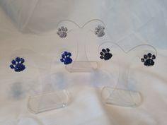 Rhinestone Paw Print Post Earrings