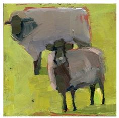 #774 These Little Sheep, painting by artist Lisa Daria Kennedy
