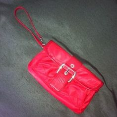 """I just added this to my closet on Poshmark: Red Clutch/Wristlet. Price: $20 Size: 9"""" x 5"""""""