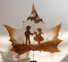 How beautiful! What to do with fall leaves.