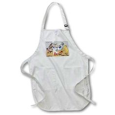 3dRose Rocking Horse, Medium Length Apron, 22 by 24-inch, With Pouch Pockets