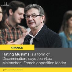 """There is hatred towards Muslims under the guise of secularism in this country. Secularism does not mean to hate a religion,"" Jean-Luc Melenchon #France"