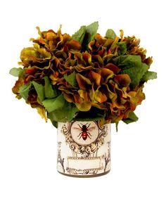 Another great find on #zulily! Harvest Hydrangea Bee Decoupage Vase Arrangement #zulilyfinds