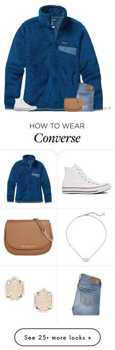"""""""TAYLOR SWIFT'S GRAMMY PERFORMANCE THO"""" by secfashion13 on Polyvore featuring Patagonia, Hollister Co., Converse, Kendra Scott, MICHAEL Michael Kors, women's clothing, women, female, woman and misses"""
