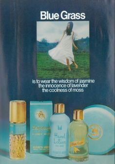 .Blue Grass 1970s..   I loved this range from 'Elizabeth Arden'....