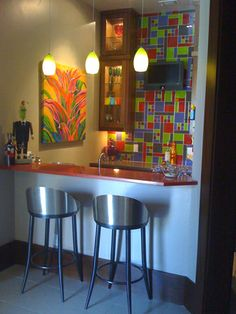 Interstyle Ceramic  Glass Tile - Galleries, colorful tile idea, basement bar idea, modern tile design