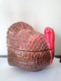 Vintage Farmhouse Ceramic Turkey Planter / by JulesCristenVintage