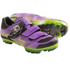 Pearl Izumi X-Project 3.0 Cycling Shoes  - SPD (For Women) in Purple/Lime