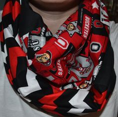 Ohio State Buckeyes Infinity scarf by SouthernComfortStyle on Etsy, $20.00