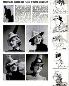 1939 LIFE Magazine on the Doll Hat fad