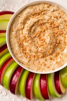 Toffee Apple Dip {3 Ingredients} - Looking for an simple something to take to a party that is guaranteed to be a hit? Or something just to treat yourself because it's the weekend?