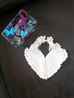 Ropa de Bebés Mary: Babero crochet 0-3m