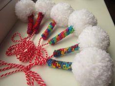 .martenitsa Baba Marta, Felt, Christmas Ornaments, Sewing, Knitting, Holiday Decor, Diy, Crafts, Handmade